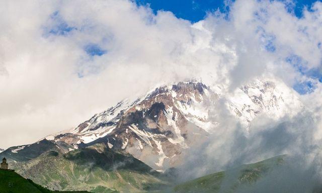 Кавказские горы на карте России. Сколько лет, высота, фото, где находятся, интересные факты