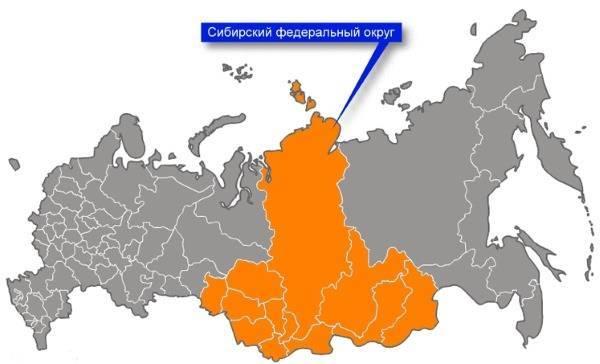 Карта Сибири с городами и областями подробная. Описание региона, география