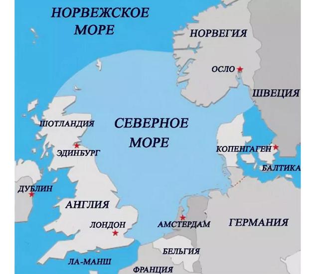 Северное море на карте мира. Где находится, фото, страны, порты, описание, характеристики