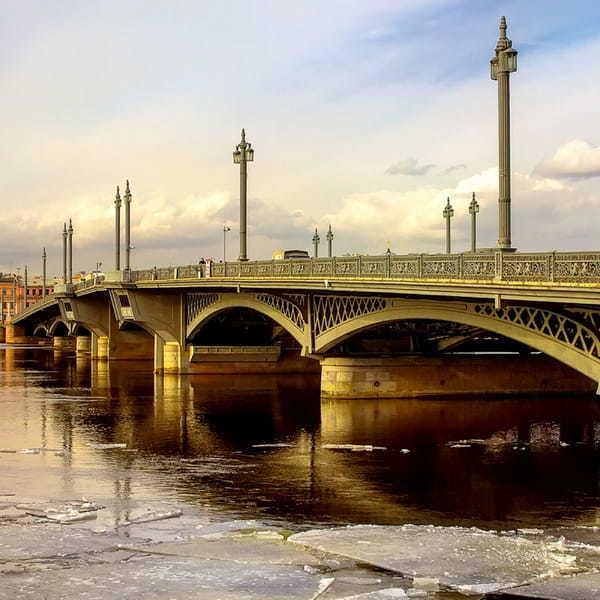 Благовещенский мост в Санкт Петербурге. История, разводка, фото, где находится на карте, ближайшее метро, архитектор