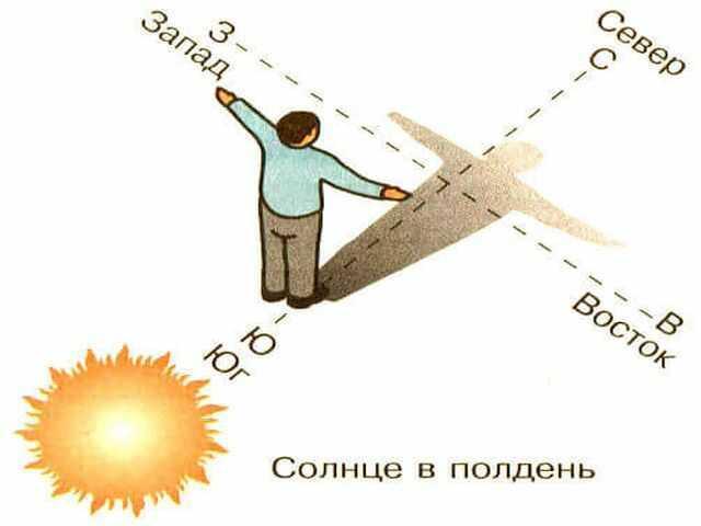 Как определять азимут по компасу, на карте местности с помощью транспортира, чему равен истинный, расстояния и стороны света