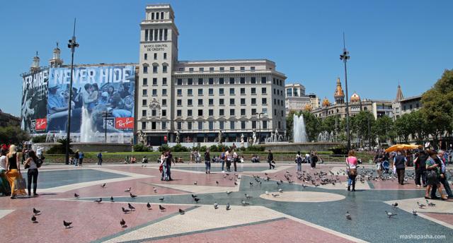 Барселона, Испания. Достопримечательности бесплатные. Маршрут самостоятельно, фото с названиями и описанием на карте