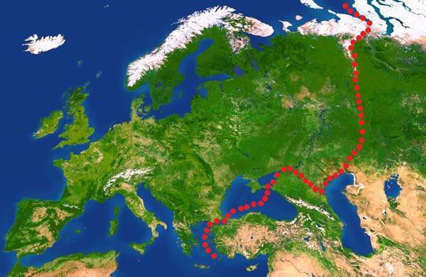 Граница между Европой и Азией. Где проходит на контурной карте мира, России, по горам Урала